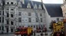 Exercice incendie au château de Blois