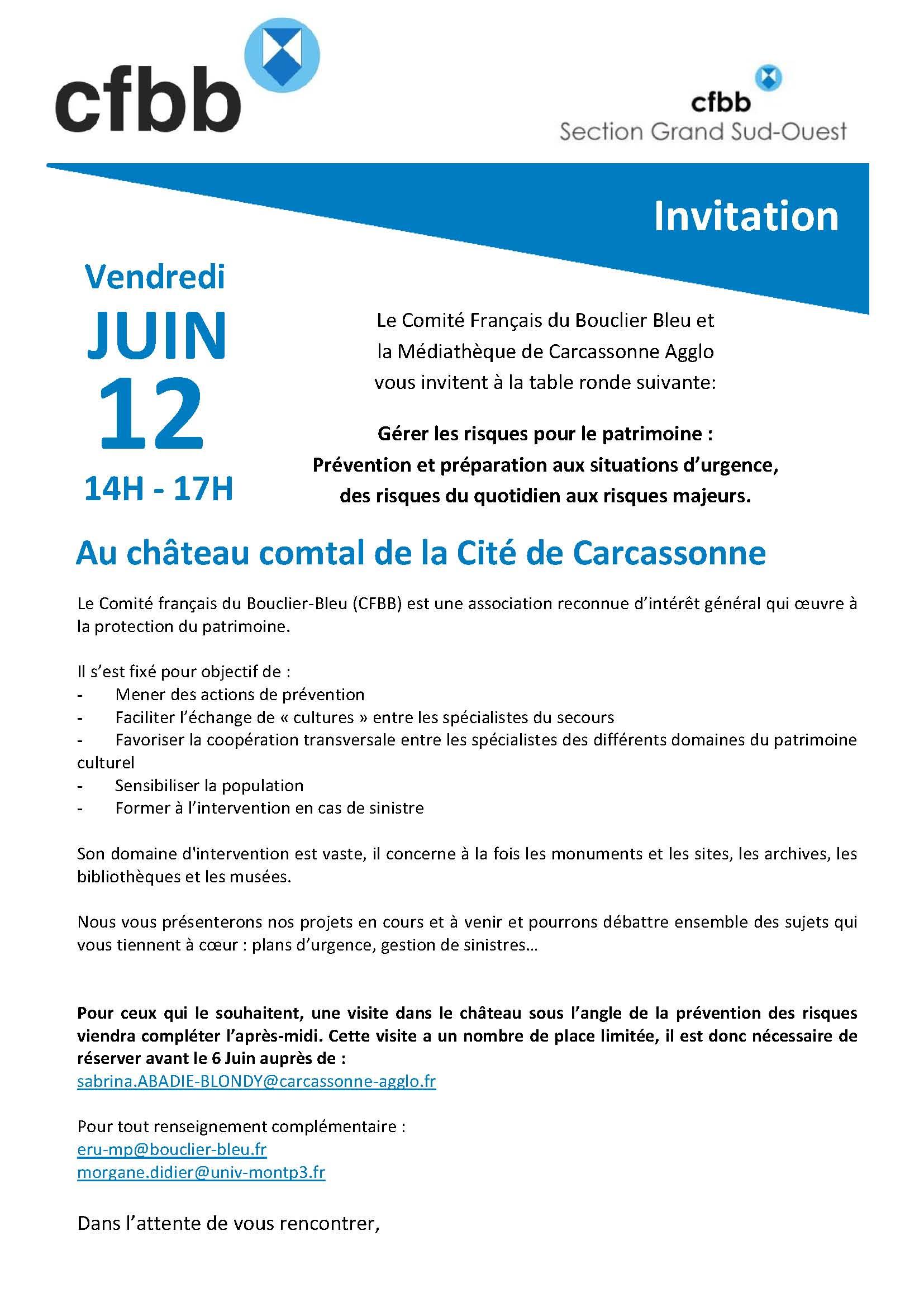 Table ronde g rer les risques pour le patrimoine pr vention et pr paration aux situations d - La table ronde carcassonne ...