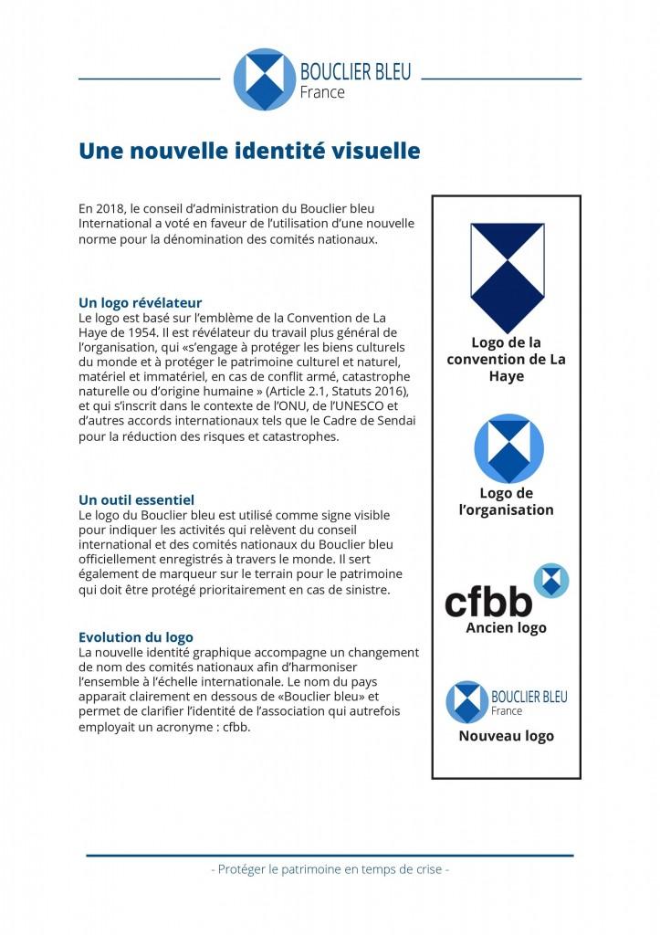 Identite visuelle nouveau logo du bouclier bleu